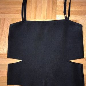 LF crop top with cut outs